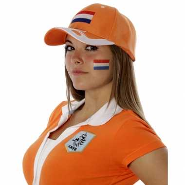10x stuks landen vlag face tattoo nederland 2.6 bij 4.5