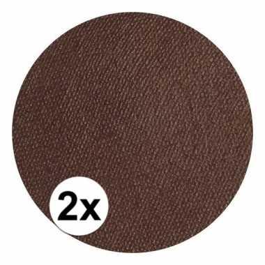 2x superstar schmink donker bruin 16 gram