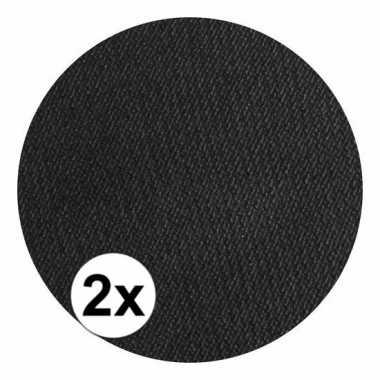 2x superstar schmink zwart 16 gram
