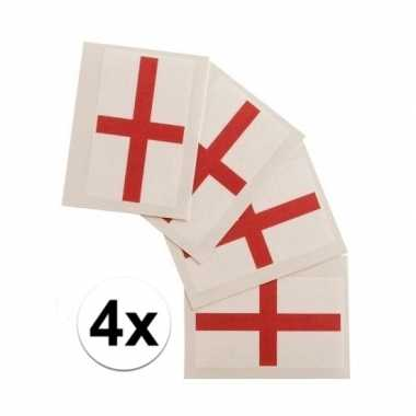 4x landen vlag tattoos engeland