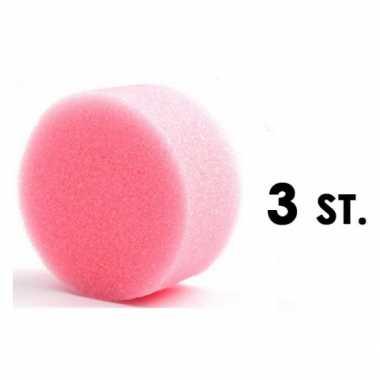 Drie ronde grimas schmink sponsjes