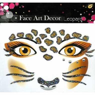 Glitter schmink sticker luipaard