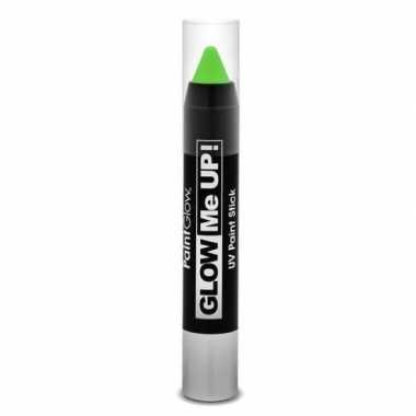 Glow the dark make up stift groen