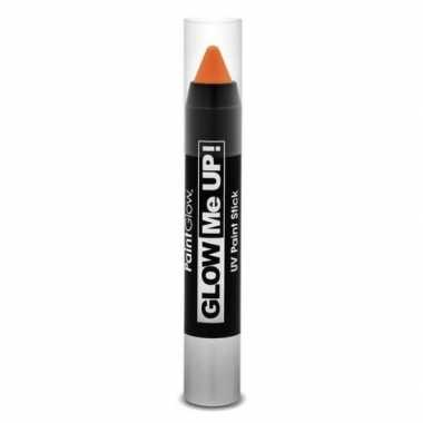 Glow the dark make up stift oranje