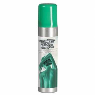 Groene uv schmink haar lichaam
