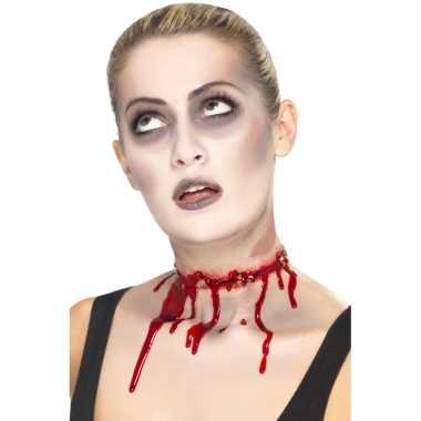 Halloween Rood litteken rondom nek