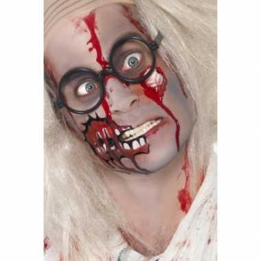 Halloween Zombie schmink set litteken