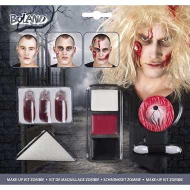 Halloween zombie schminkset bloed capsules