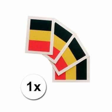 Landen vlag tattoo belgie