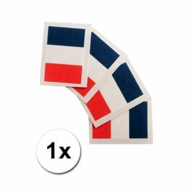 Landen vlag tattoo frankrijk