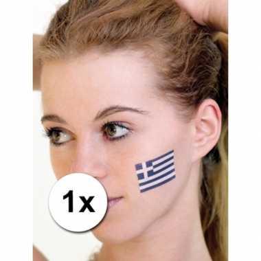 Landen vlag tattoo griekenland