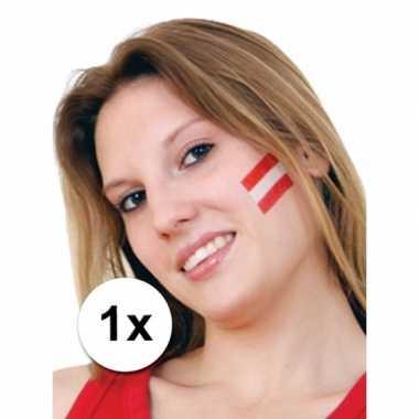 Landen vlag tattoo oostenrijk