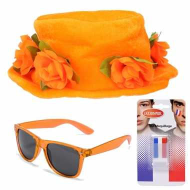 Oranje supporters verkleed set
