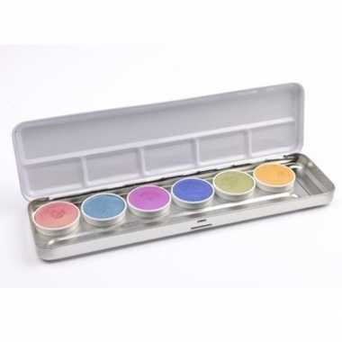 Schmink palet 6 edelmetaal kleuren