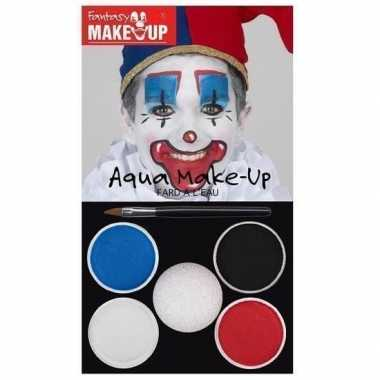 Schmink set horror clown 5 kleuren