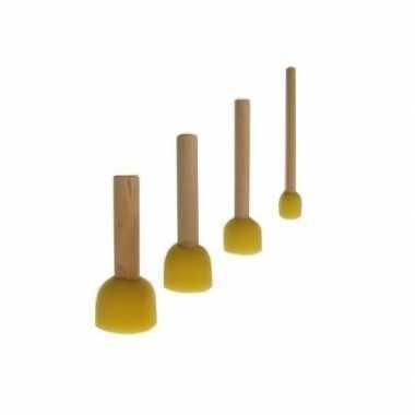 Schmink spons penselen set 4 stuks
