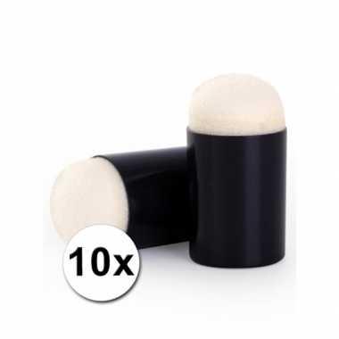 Schminksjabloon sponsjes 10 x