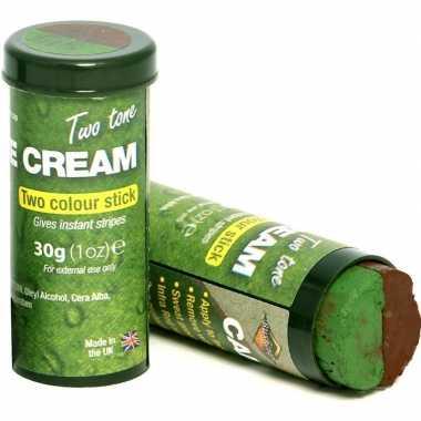 Speelgoed bruine/groene camouflage schmink stift kinderen