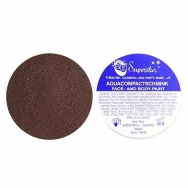 Superstar schmink zwarte piet / roetveeg piet bruin 16 gram