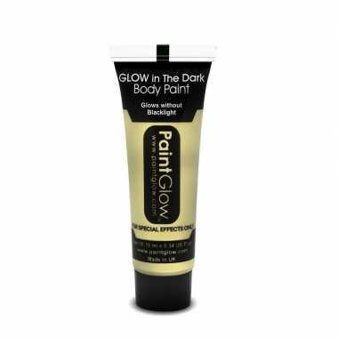 Transparante glow the dark schmink/make up tube 12 ml