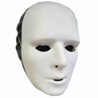 Witte grimeer maskers plastic