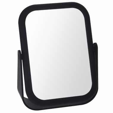 Zwarte schmink/grimeer spiegel rechthoek dubbelzijdig 15 bij 21