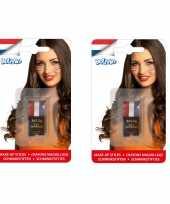 4x stuks schminkstiften holland rood wit blauw