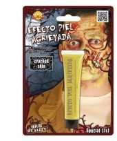 Halloween gebarsten huid schmink geel 28 3 gram