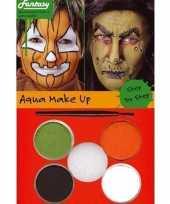 Halloween schminkset oranje groen bruin wit