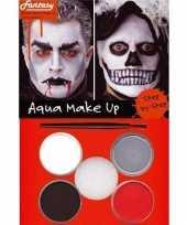 Halloween schminkset rood zwart grijs wit