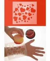 Hartjes schminksjabloon