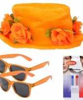 Oranje supporters verkleed set 2 personen 10277734