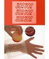 Schmink sjabloon ornament hart