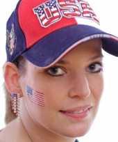 Set 8x stuks landen vlag tattoo amerika 2 6 bij 4 5