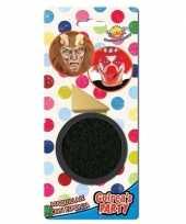 Zwarte horror verkleed schmink 9 gram sponsje